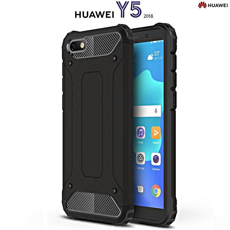 nuovo concetto dd27f 63d4a COVER per Huawei Y5 2018 HYBRID TOUGH ARMOR RUGGED Protezione Massima