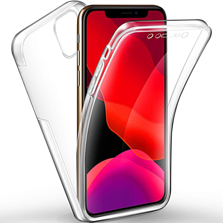 COVER per Iphone 11 / Pro Max Fronte Retro 360° SILICONE SLIM TPU FULL