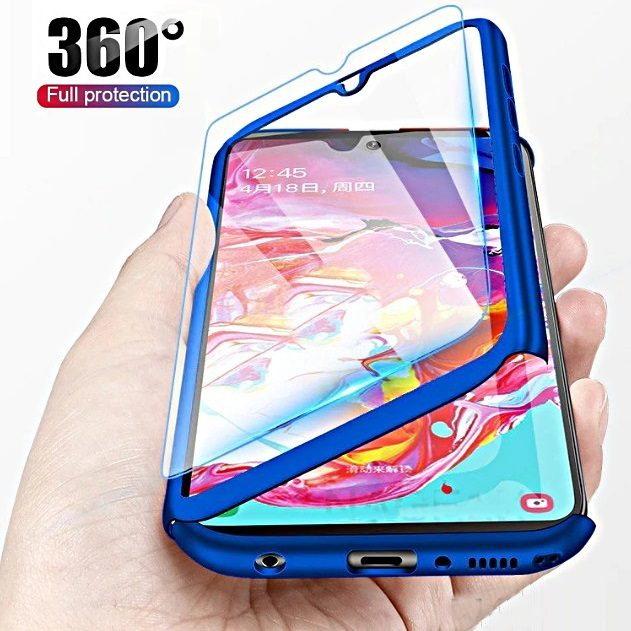 COVER per Xiaomi Redmi Note 8 Pro CUSTODIA Fronte Retro 360° VETRO TEMPERATO 9H