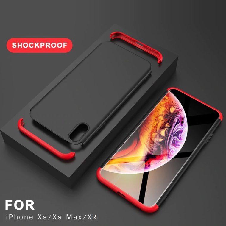 COVER per Iphone X / XS / Max / XR CUSTODIA Fronte Retro 360° ORIGINALE ARMOR CASE