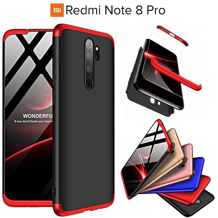 Cover Xiaomi Redmi Note 8 Pro Silicone Fronte Retro Argento