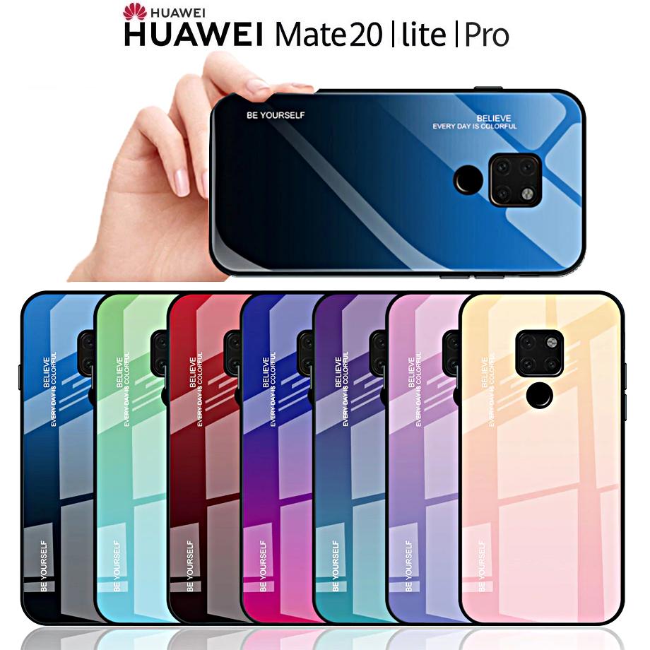 data di rilascio 96973 d6837 COVER per Huawei Mate 20 / Lite / Pro ORIGINALE Gradient Glass RETRO VETRO  TEMPERATO