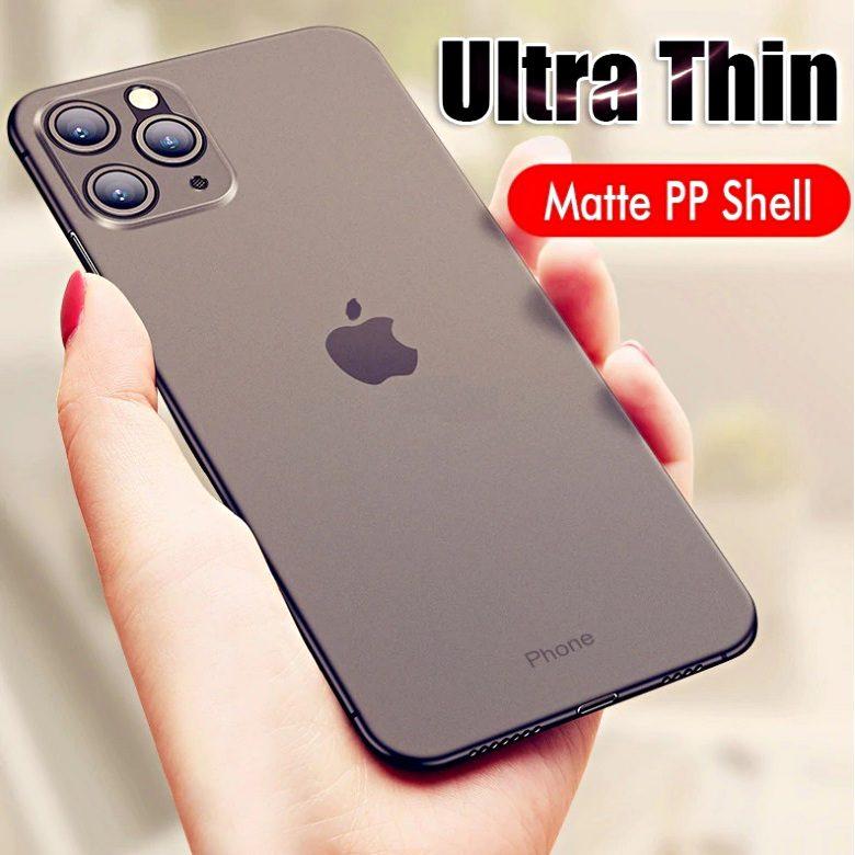 COVER per Iphone 11 / Pro / Pro Max ULTRA SOTTILE SEMI TRASPARENTE SLIM OPACO SEMI RIGIDA